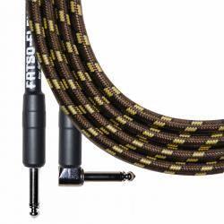 FF10Q A GOLD LAMPCORD CABLE SPECTRAFLEX JACK JACK ACODADO DE 3 METROS SERIE FATSOFLEX