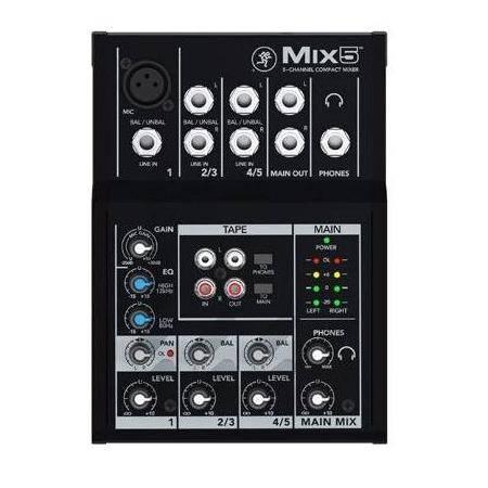 MESA MEZCLAS MACKIE 5 CANALES MIX5