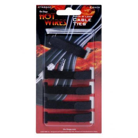 ON STAGE CTA6600 VELCRO SUJETA CABLES PACK 5 UNID