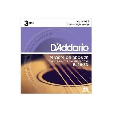 D'addario Ej-26-3d(3sets) Juego Cuerdas Guitarra Acústica