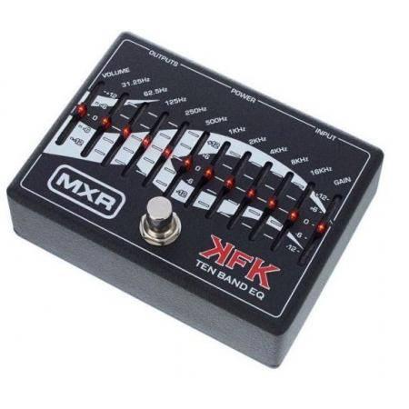 Dunlop MXR KFK1 EQ gráfico Pedal 10 bandas