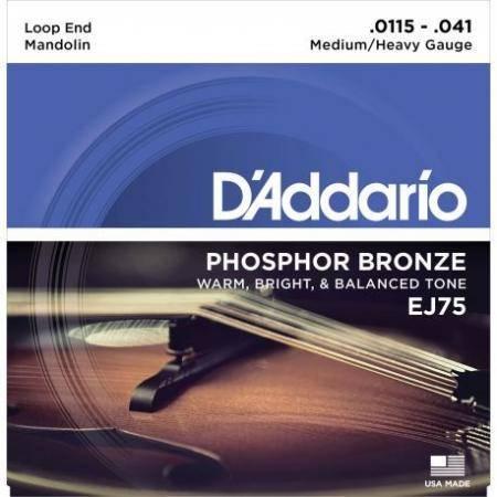 Daddario Ej-75 (11,5-41) Juego Cuerdas Mandolina
