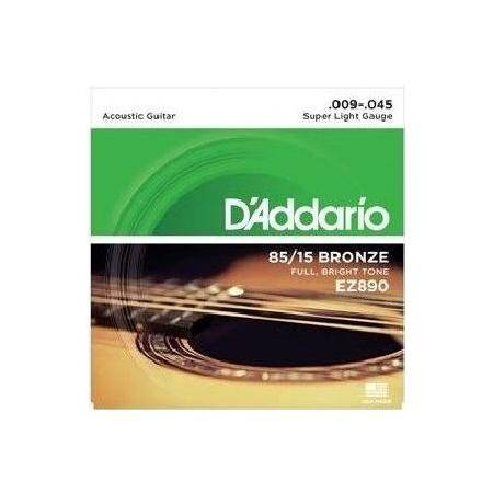 D'ADDARIO GUITARRA ACÚSTICA EZ890 SUP LITE JUEGO C