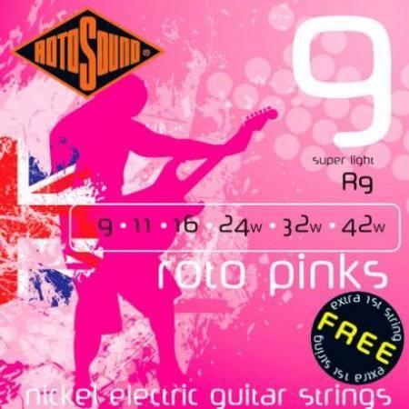 Rotosound R9 Cuerdas Guitarra eléctrica 9-42