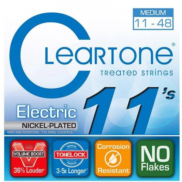 Cleartone Nickel Plated 11-48 Medium Cuerdas de guitarra