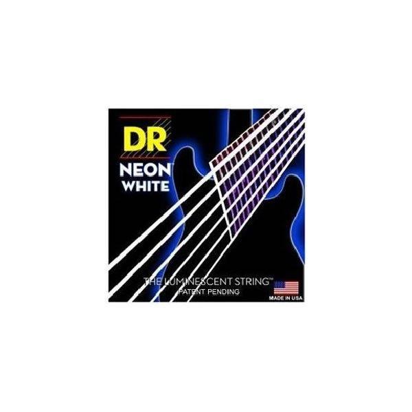 DR JUEGO CUERDAS GUITARRA ELÉCTRICA NEON WHITE 9-4
