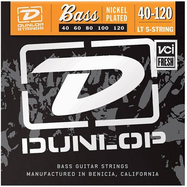 Juego Dunlop Bajo 5 cuerdas Nickel 40-120