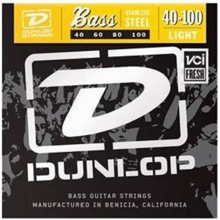 Juego Dunlop Bajo 4 cuerdas Steel 40-100