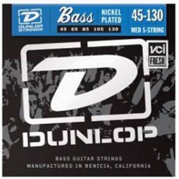Juego Dunlop Bajo 5 cuerdas Nickel 45-130