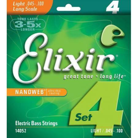 Elixir 045-100 Nanoweb Light  Cuerdas Bajo