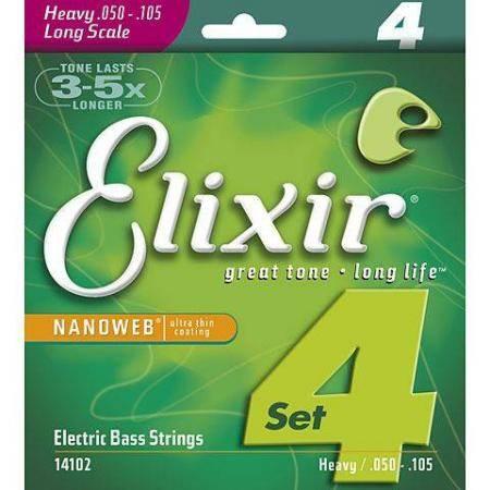 Elixir 050-105   Nanoweb Heavy Long Scale Cuerdas Bajo