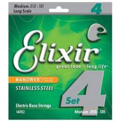 Elixir Nano Web Stainless Steel 50-105 Cuerdas bajo