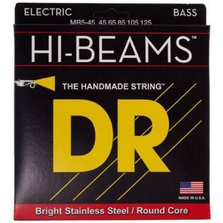 Juego DR Bajo 5 cuerdas Hi-Beam 45-125