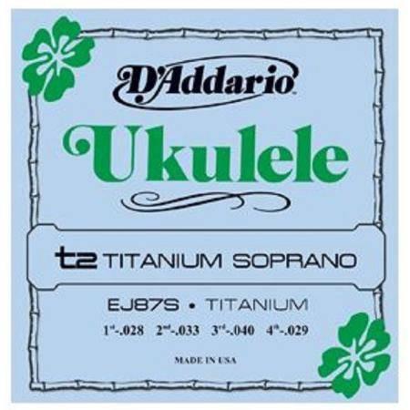 D'addario EJ87S Juego Cuerdas Ukelele Soprano Tita