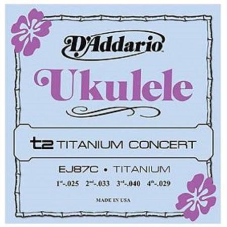 Daddario EJ87C Juego Cuerdas Ukelele Concert Tita