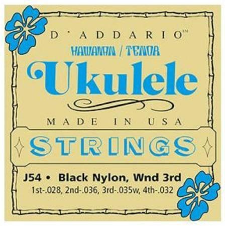 D'addario J54 Juego Cuerdas Ukelele Tenor Nylon
