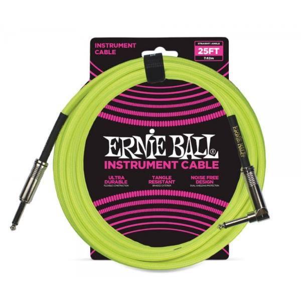 ERNIE BALL 6057 CABLE INSTRUMENTO 7,62M. VERDE