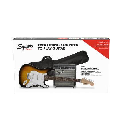 SQUIER BY FENDER PACK STRATO BSB 10G