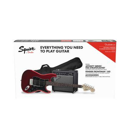 SQUIER BY FENDER PACK STRATO HSS CAR 15G.