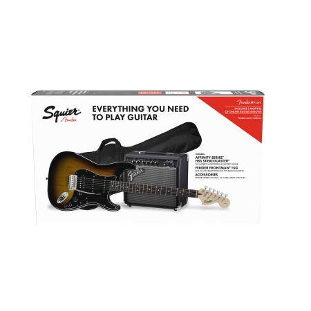 SQUIER BY FENDER PACK STRAT HSS 15G