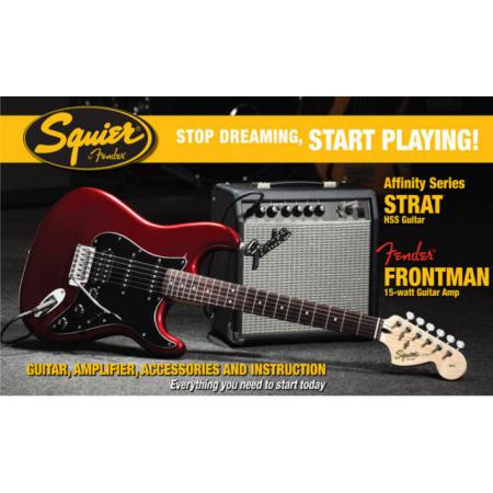 FENDER SQUIER AFFINITY STRAT HSS CAR PACK+FRONTMAN