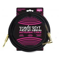 ERNIE BALL 6058 CABLE INST 7,62M JACK JACK CODO BK