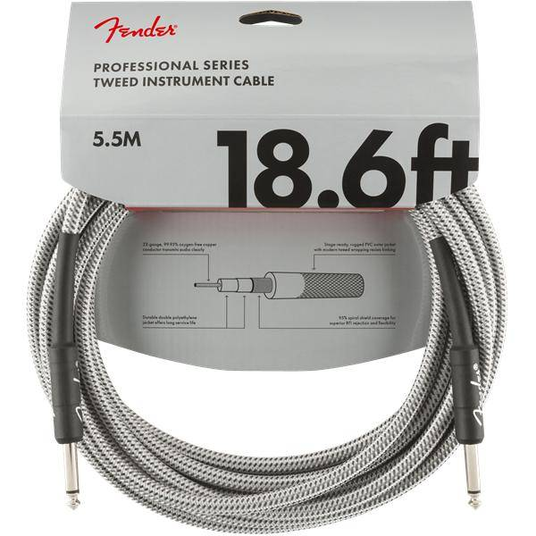 FENDER PRO 5,5M CABLE INSTRUMENTOS WHT TWD