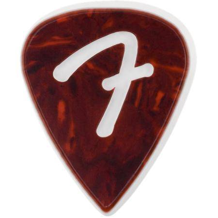 FENDER 'F' GRIP 351 SHELLPACK 3 PÚAS GUITARRA ROJO