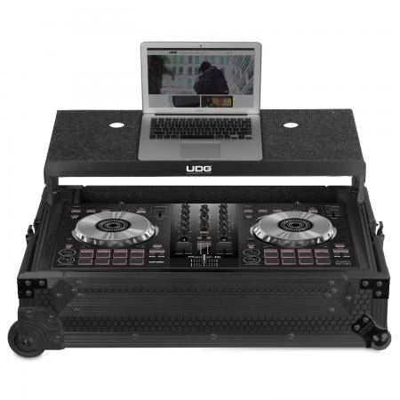 U91059BL - UDG ULTIMATE FLIGHT CASE MULTI FORMAT XL BLACK PLUS (LAPTOP SHELF, TROLLEY & WHEELS)