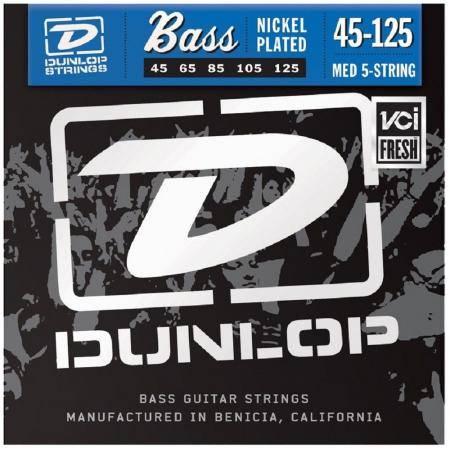 Juego Dunlop Bajo 5 cuerdas Nickel 45-125