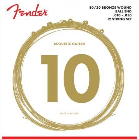 FENDER JUEGO 12 CUERDAS ACÚSTICA  10-50