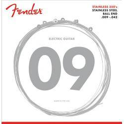 FENDER 350L STNLS STL BALL END 9-42 CUERDAS GUIT