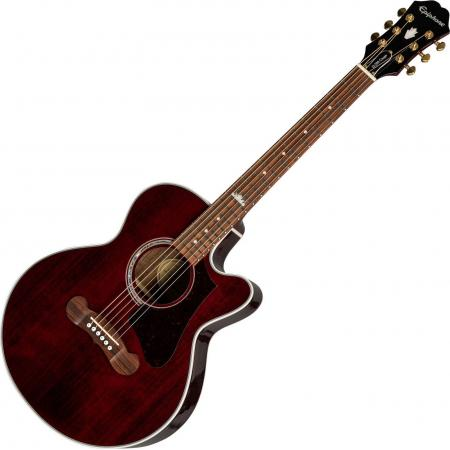 EPIPHONE EJ200 COUPE GUITARRA ACÚSTICA WINE RED