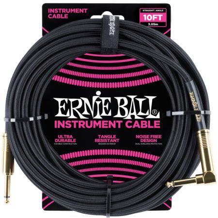 ERNIE BALL 6081 CABLE INSTRUMENTO 3M CODO NEGRO