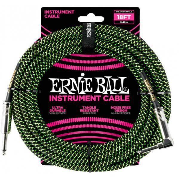 ERNIE BALL 6082 CABLE INSTRUMENTO 5.49M CODO VERDE