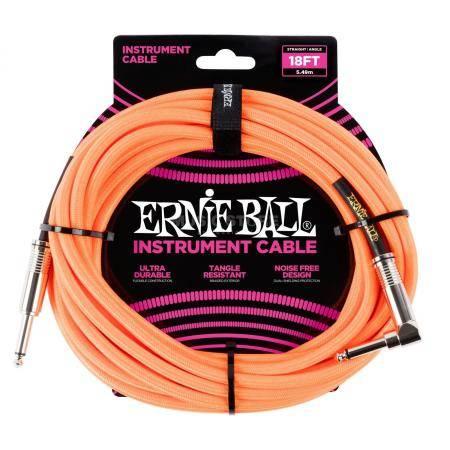ERNIE BALL 6084 CABLE INSTRUMENTO 5.49M CADO ORANG
