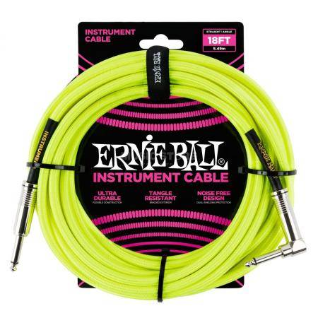 ERNIE BALL 6085 CABLE INSTRUMENTO 5.49M CODO YELLO