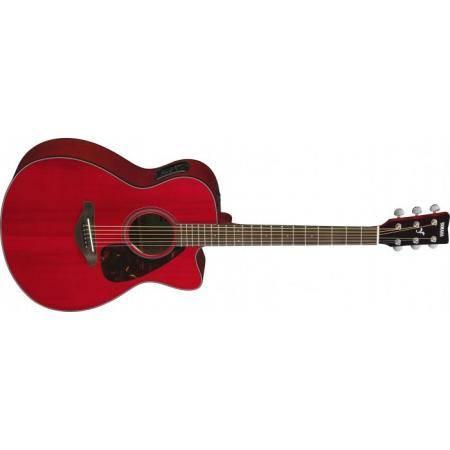 YAMAHA FSX800CRR GUITARRA ACÚSTICA RUBY RED