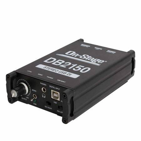 CAJA-EXTEN.ON STAGE DB2150 STEREO USB DIRECT BOX