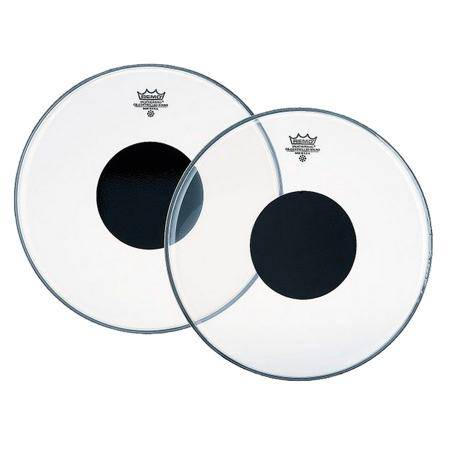 PARCHE REMO CONTROLLED SOUND CLEAR BLACK DOT 15""