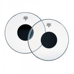 PARCHE REMO CONTROLLED SOUND CLEAR BLACK DOT 12""