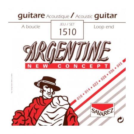 Juego Savarez Acústica Argentine 1510 10-45 Lazo