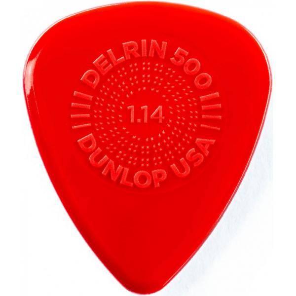 Bolsa 12 Púas Dunlop 450P-114 Prime Grip Delrin 500 1.14mm