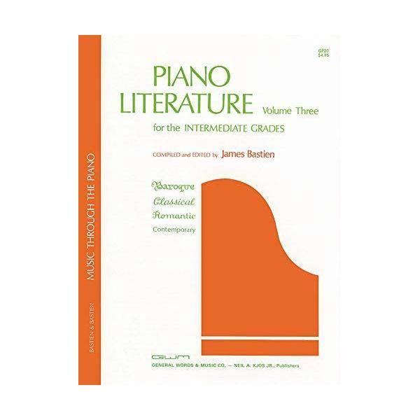BASTIEN PIANO LITERTURE V3 INGLES