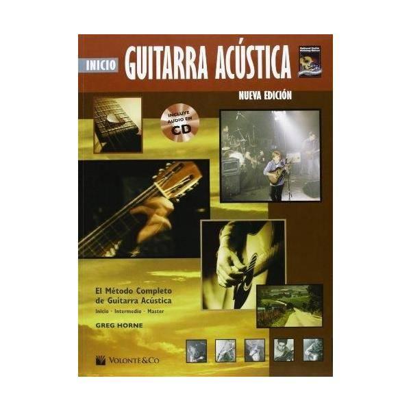 INICIO GUITARRA ACÚSTICA METODO COMPLETO + CD HORN