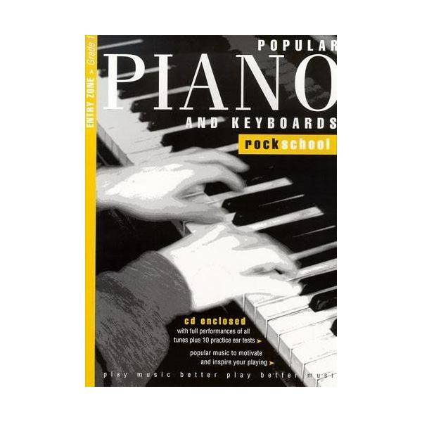 LIBRO ROCKSCHOOL POPULAR PIANO Y K GRADE 1 1+ CD
