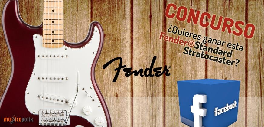 Guitarra eléctrica Fender Standard Stratocaster. Concurso en Musicopolix. Gana esta Fender