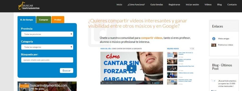 Buscarinstrumentos.com crea una comunidad para compartir vídeos entre músicos»