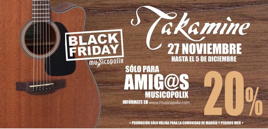 Black Friday Musicopolix: 20% de descuento en Takamine