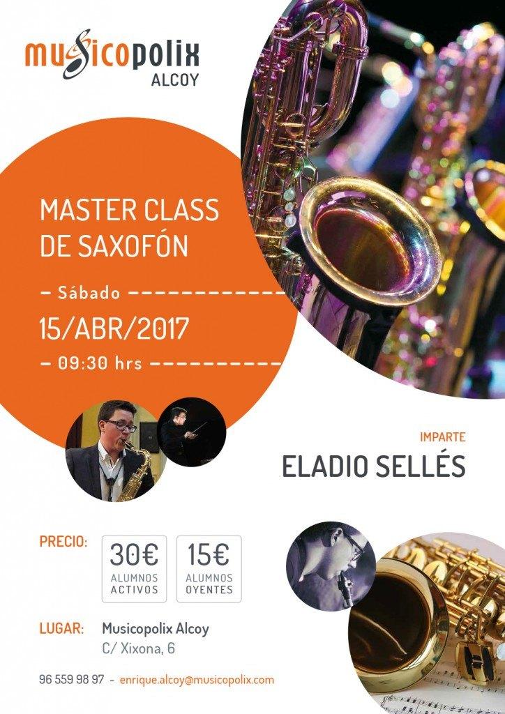 Masterclass de Saxofón en Musicopolix Alcoy
